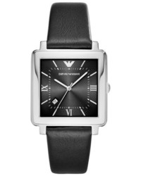 Emporio Armani Square Leather Strap Watch 38mm