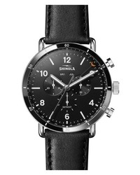 Shinola The Canfield Chrono Leather Strap Watch
