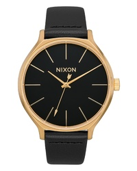 Nixon The Clique Leather Watch