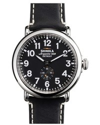 Shinola The Runwell Leather Strap Watch 47mm