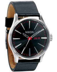 Nixon The Sentry Leather Watch 42mm