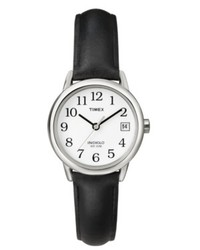 Timex Watch Black Leather Strap T2h331um