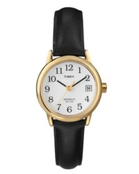Timex Watch Black Leather Strap T2h341um