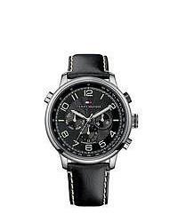 Tommy Hilfiger Black Leather Strap Watch
