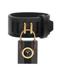 Gucci Twirl Small Leather Padlock Watch