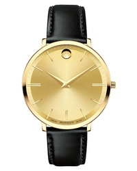 Movado Ultraslim Leather Watch
