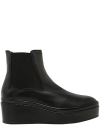 Janet & Janet 60mm Leather Wedge Ankle Boots