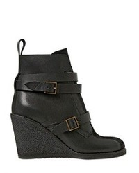 See by Chloe 90mm Leather Suede Belted Ankle Boots