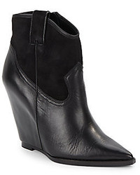 Ash Jude Leather Wedge Ankle Boots