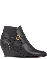 Chloé Buckle Strap Wedge Ankle Boots