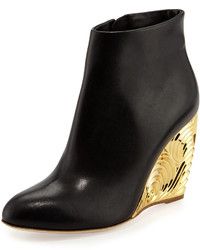 Rupert Sanderson Decorative Wedge Ankle Boot