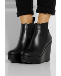 2dd3a7439e18 ... Robert Clergerie Fille Leather Wedge Ankle Boots ...