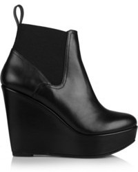 Robert Clergerie Fille Leather Wedge Ankle Boots