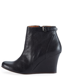 Lanvin Leather Wedge Ankle Boot Black | Where to buy & how to wear