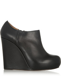 Marni Leather Wedge Ankle Boots