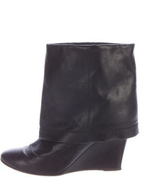 Marc Jacobs Leather Wedge Ankle Boots