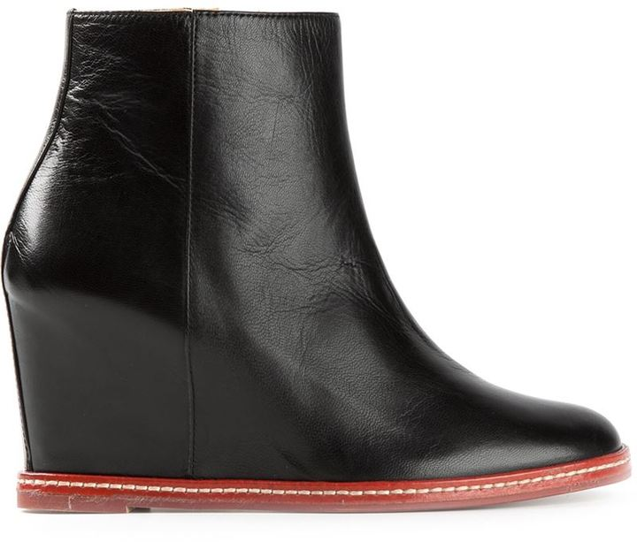 Maison Martin Margiela Mm6 Maison Margiela Ankle Wedge Boots ...