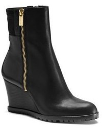 Michael Kors Michl Kors Aileen Vachetta Leather Wedge Ankle Boot