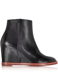Maison Martin Margiela Mm6 Black Leather Ankle Boot