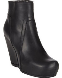 Rick Owens Platform Wedge Ankle Boots