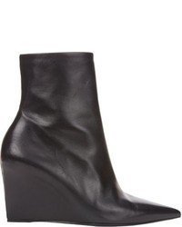 Balenciaga Point Toe Wedge Ankle Boots