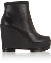 Robert Clergerie Sarla Leather Wedge Boots