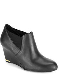 Bandolino Thistle Suede Wedge Ankle Boots