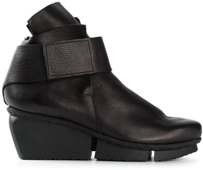 d8876e8bbe0e Wedge Ankle Boots. Black Leather ...