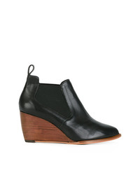b8834af7927b Women s Black Leather Wedge Ankle Boots by Robert Clergerie ...