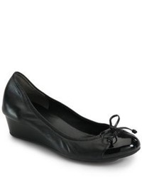 Cole Haan Air Tali Leather Patent Leather Wedge Pumps