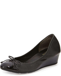 Air tali leather wedge pump black medium 243901