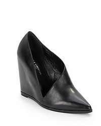 Anglo Leather Wedge Pumps