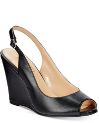 Bettye Muller Ann Marino By Adore Slingback Wedge Pumps