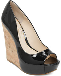 Jessica Simpson Bethani Cork Platform Wedge Pumps