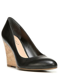 Franco Sarto Calix Leather Wedge Pumps