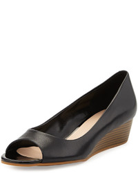 Cole Haan Elise Open Toe Wedge Pump Black