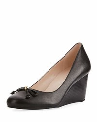 Cole Haan Elsie Bow Wedge Pump Black