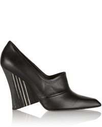 Stella McCartney Faux Leather Wedge Pumps