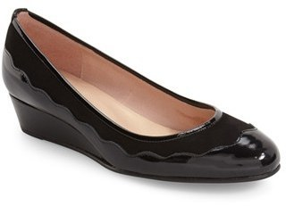 French Sole Obsess Scalloped Wedge Pump