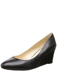 68e6f14afc Women's Black Leather Wedge Pumps by Nine West | Women's Fashion ...