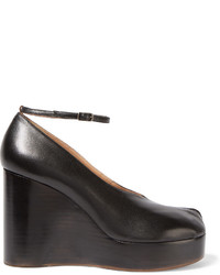 Maison Margiela Sold Out Leather Wedge Pumps