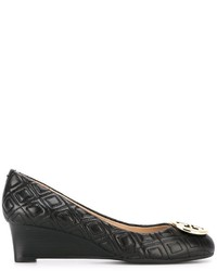 Tory Burch Cross Detail Wedge Pumps