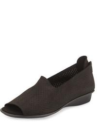 Eadan open toe demi wedge sandal black medium 645135