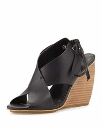 Rebecca Minkoff Eden Crisscross Wedge Sandal Black