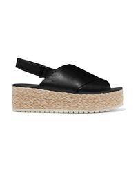 Vince Jesson Leather Espadrille Platform Sandals