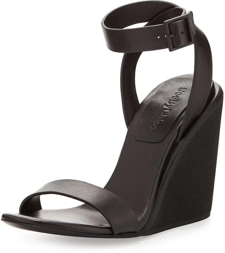 ... See by Chloe Keeni Leather Wedge Sandal Black ... 314810c19b1d
