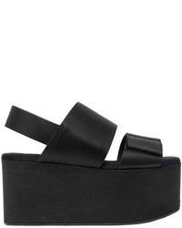 Marni 80mm Leather Sandal Wedges
