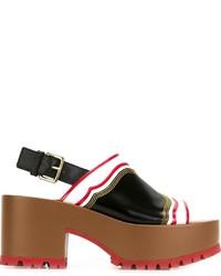Marni One Band Wedge Sandals