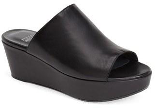 0dc09284d794 ... Black Leather Wedge Sandals Stuart Weitzman Muletrain Nappa Leather Wedge  Slide Sandal ...