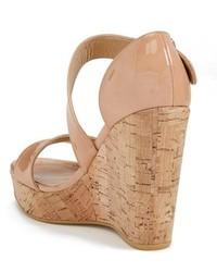 fcdde06f85af ... Stuart Weitzman Oneliner Patent Leather Wedge Sandal ...